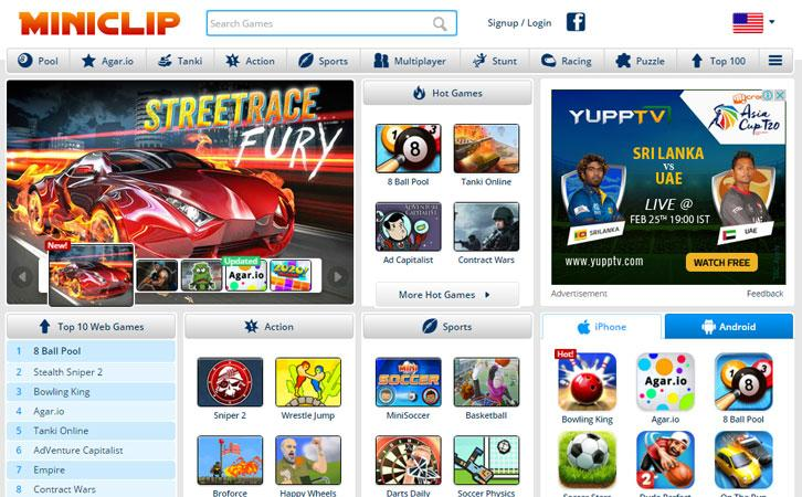 Only the best games get published on Miniclip