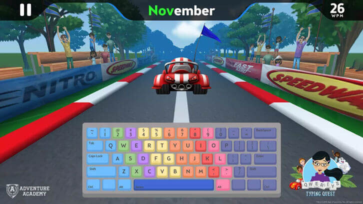 Learn to Type Fast and Accurately with Adventure Academy's Qwerty Typing Quest