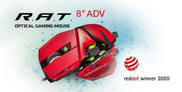 Mad Catz R.A.T.8+ ADV Wins Red Dot for Outstanding Design Quality