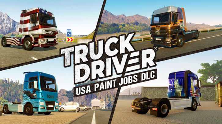 A new look for Truck Driver with four country-themed 'Paint Jobs' DLCs