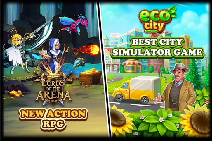 R2Games Launches Eco City and Lords of the Arena Just in Time for Christmas