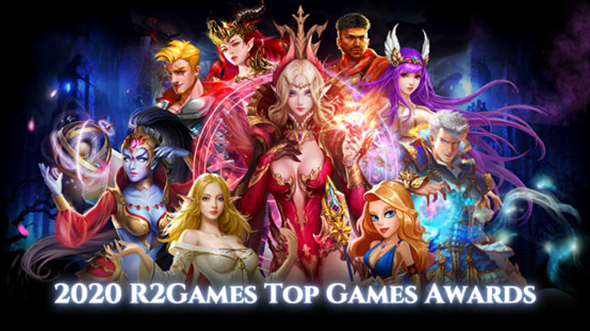 The Winners in the R2Games Top Games Awards