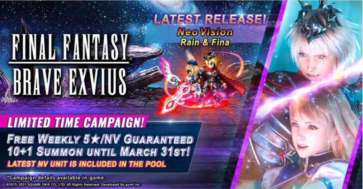 Exciting Updates in Hit Mobile Game Final Fantasy Brave Exvius