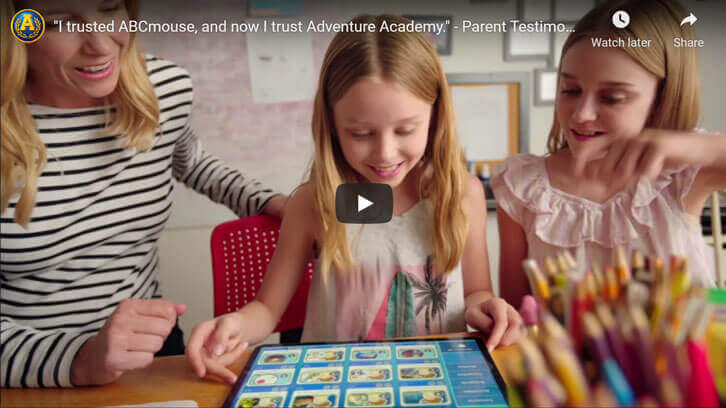 """""""I trusted ABCmouse, and now I trust Adventure Academy."""" - Parent Testimonial by Adventure Academy"""