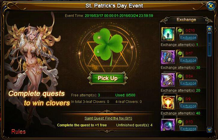 Celebrate St Patrick's Day with Guardians of Divinity and Siegelord