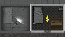 Searching a cell for loot in Prison Wars Online