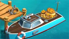 Funky Bay: Delivery boat returned