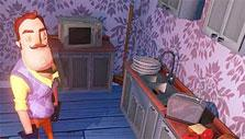 Your neighbor's kitchen in Hello, Neighbor!