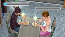 The Sims FreePlay: Having dinner with a friend