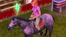 Horse riding in The Sims FreePlay