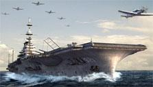Aircraft carrier in Navy Field 2