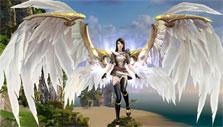 Beautiful wings in Revelation Online