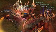 Lineage II: Fighting a raid boss