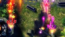 Powerful main cannons in Sky Force Anniversary