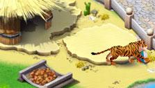 Tiger playing with a ball in Family Zoo – The Story