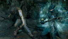 Fighting a citizen in the early stages of infection in Bloodborne