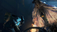Taking on one of the strongest bosses in Bloodborne