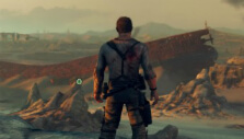 Mountainous wasteland in Mad Max