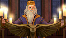 Professor Dumbledore's speech in Harry Potter: Hogwarts Mystery