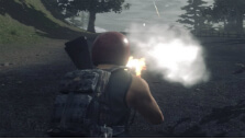 Firing the Hellfire gun in H1Z1