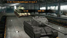 Customize your tank in War of Tanks