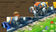 Complete the jigsaw puzzle in Packed Train
