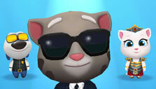 Agent Tom in Talking Tom Gold Run