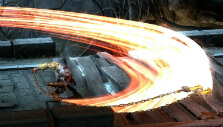 Stringing up combos in God of War III Remastered