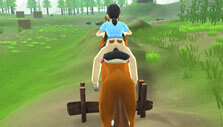 Horse jumping in My Riding Stables: Your Horse Breeding