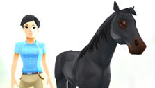 Customizing your horse in My Riding Stables: Your Horse Breeding