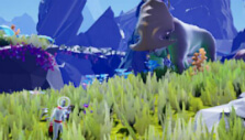 Large animal in the background in Planet Alpha