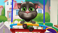My Talking Tom 2: Playing the swing