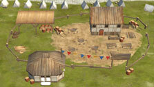 Visiting a town in Admirals: Caribbean Empires