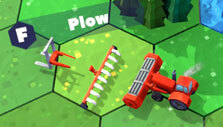 Starter farm implements in Red Tractor Tycoon