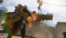 Caustic in action in Apex Legends