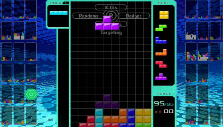 Dropping a T-block in Tetris