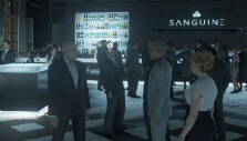 Face to face with a target in Hitman