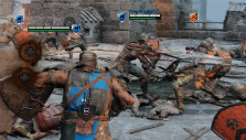 The chaos of a battle in For Honor