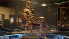 Statue of Nikola Tesla in Close to the Sun