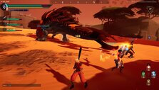 Battling a Helion in Dauntless