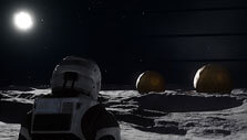 On the lunar base, Copernicus, in Deliver Us the Moon