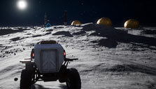 Driving a lunar buggy in Deliver Us the Moon