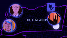 Map of Los Ojos in Neo Cab