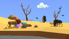 My Oasis: Populate your oasis with animals