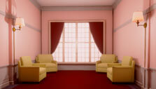 Minimalistic rooms in Superliminal