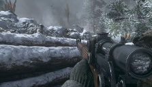 Sniping in the Ardennes Forest in COD: WW2