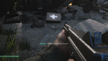 Picking up a health pack in COD: WW2