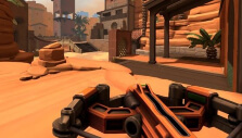 Crossbow and sand map in Diabotical