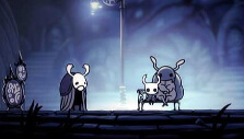 Dirtmouth in Hollow Knight