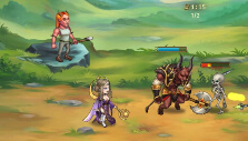 Mage and minotaur in Lords of the Arena